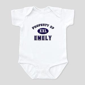 Property of emely Infant Bodysuit
