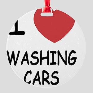 WASHING_CARS Round Ornament