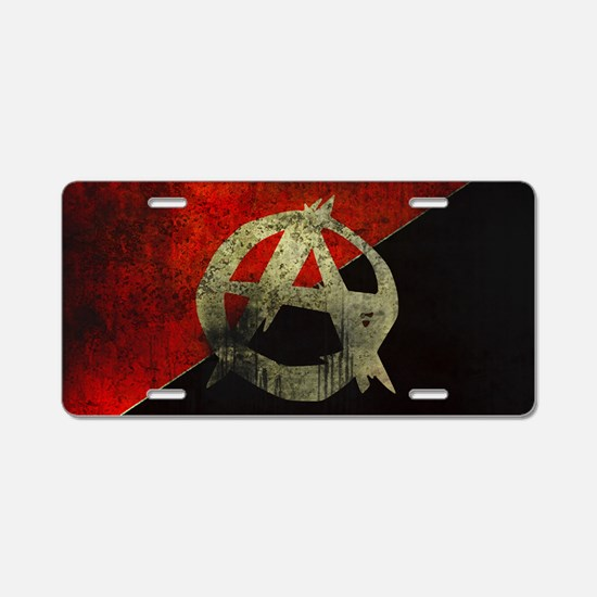 anarchy-symbol-flag Aluminum License Plate