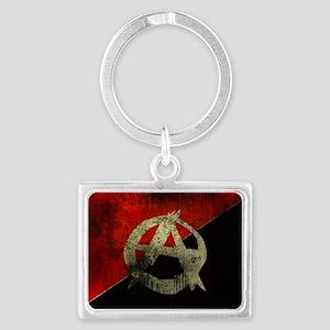 anarchy-symbol-flag Landscape Keychain
