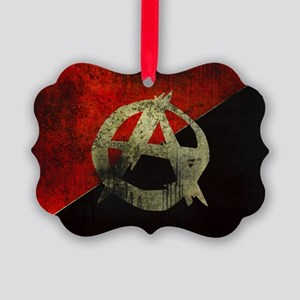 anarchy-symbol-flag Picture Ornament