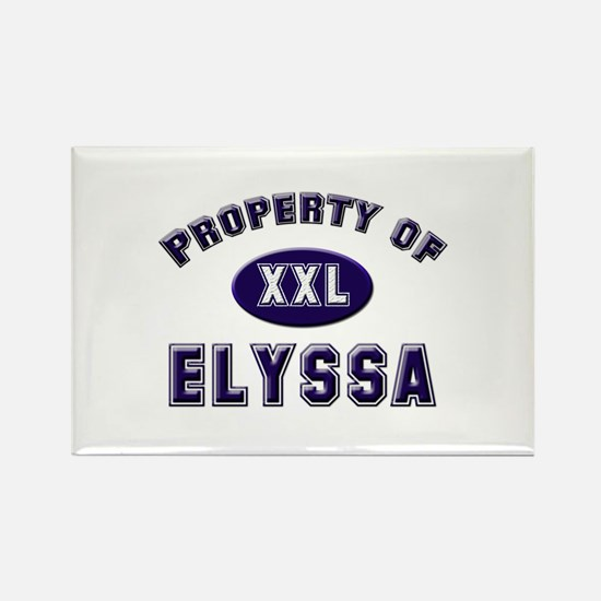 Property of elyssa Rectangle Magnet