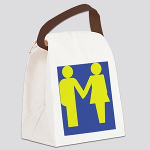 Traditional Marriage large Canvas Lunch Bag