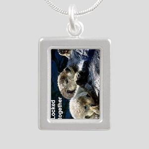 Otter keyring Silver Portrait Necklace