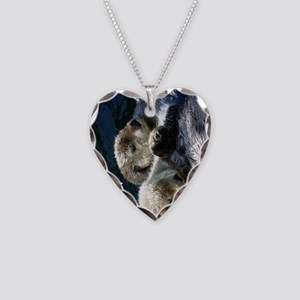 Otter keyring Necklace Heart Charm