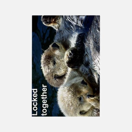 Otter keyring Rectangle Magnet