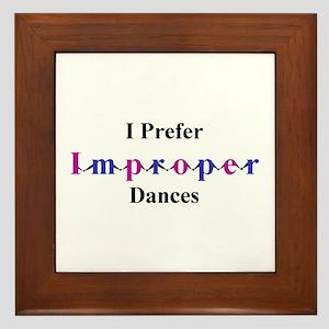 Improper Dances Framed Tile
