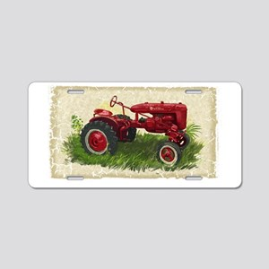 Old Tractor Aluminum License Plate