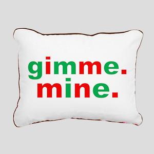 Gimme Mine Rectangular Canvas Pillow