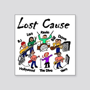 """Lost Cause With Len Small Square Sticker 3"""" x 3"""""""