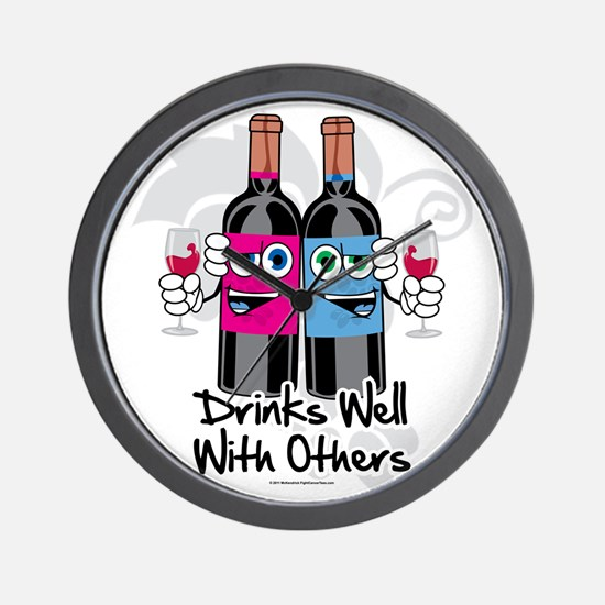 Drinks-Well-With-Others Wall Clock