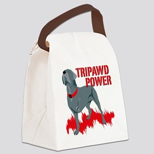 Tripawd Power Bellona Cane Corso Canvas Lunch Bag