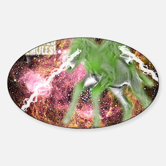 SpaceMulesLogo Sticker (Oval)