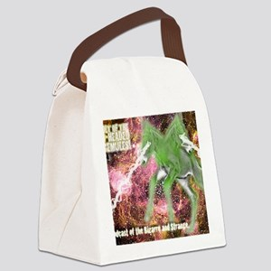 SpaceMulesLogo Canvas Lunch Bag