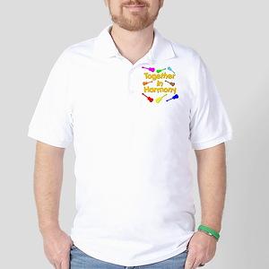 rainbow ukulele ukes Golf Shirt