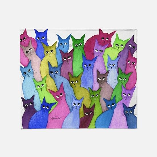 many minnesota stray cats Throw Blanket