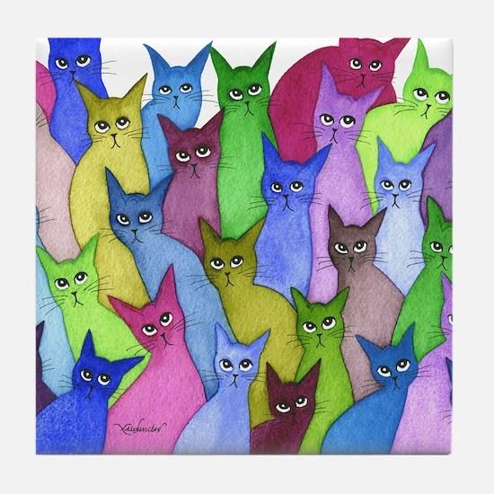 many minnesota stray cats Tile Coaster