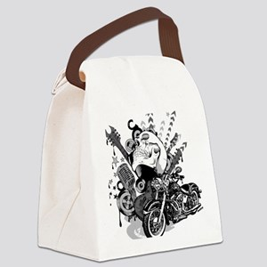 Rock the skull Canvas Lunch Bag