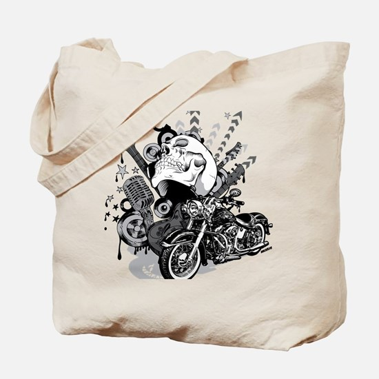 Rock the skull Tote Bag