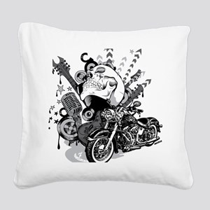 Rock the skull Square Canvas Pillow