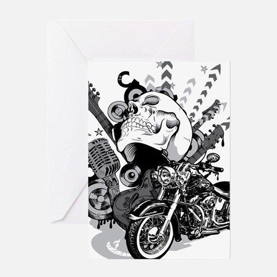 Rock the skull Greeting Card