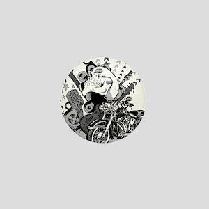 Rock the skull Mini Button