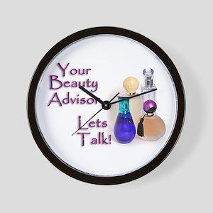 Beauty Advisor Wall Clock