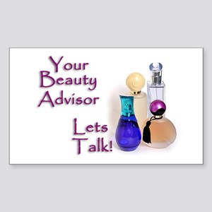 Beauty Advisor Rectangle Sticker