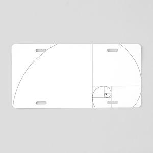 Fibonacci_spiral Aluminum License Plate