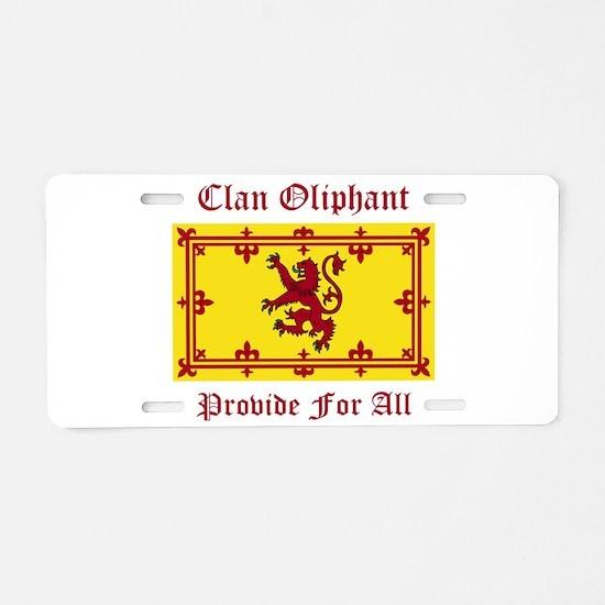 Oliphant Aluminum License Plate