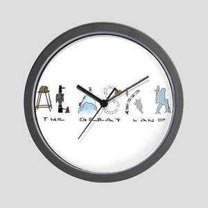 The Great Land - Color Wall Clock