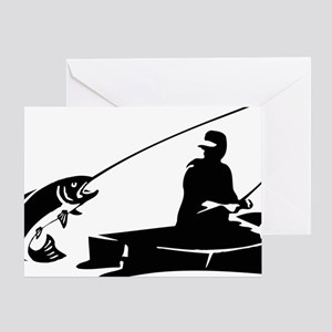 fishing2D Greeting Card