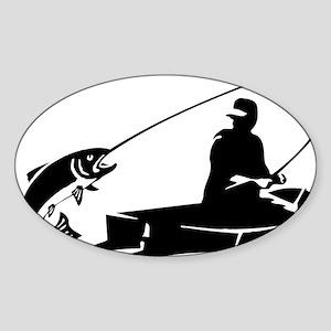 fishing2D Sticker (Oval)