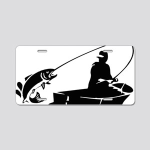 fishing2D Aluminum License Plate