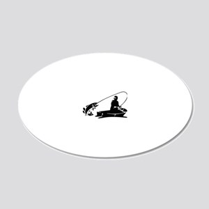 fishing2D 20x12 Oval Wall Decal