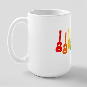 Ukulele Rainbow Large Mug