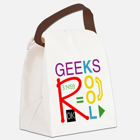 geeksrcool_multi Canvas Lunch Bag