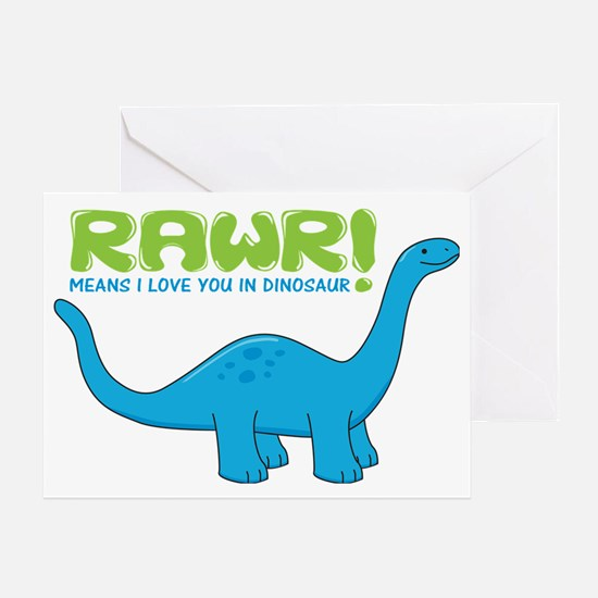rawrdino Greeting Card