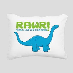rawrdino Rectangular Canvas Pillow