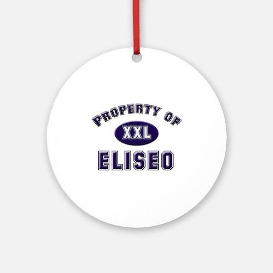 Property of eliseo Ornament (Round)