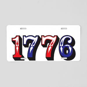 1776 dark Aluminum License Plate