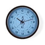 TARDIS Blue Music Circle Of Fifths Wall Clock