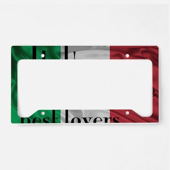 Italians best lovers License Plate Holder