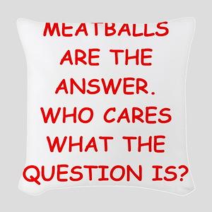 meatball Woven Throw Pillow