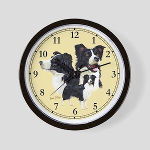 Border Collie Clock Wall Clock
