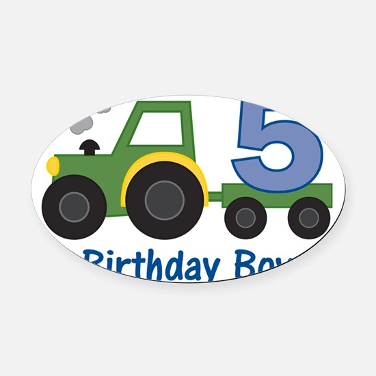 tractor5 Oval Car Magnet