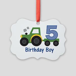 tractor5 Picture Ornament