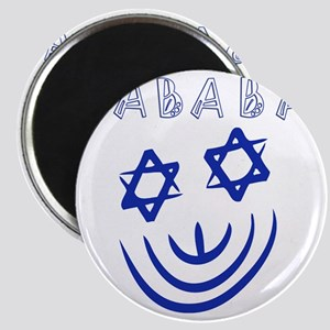 Blue White Sababa Face Magnet