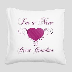 HeartFam_GreatGrandma Square Canvas Pillow