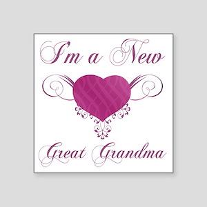 """HeartFam_GreatGrandma Square Sticker 3"""" x 3"""""""